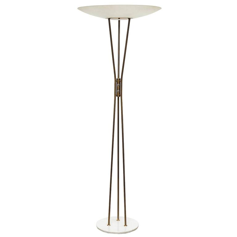 rare floor lamp designed by gaetano scolari for stilnovo