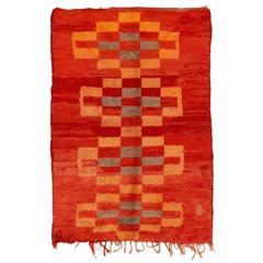Vintage Middle Atlas M'rirt Berber Rug
