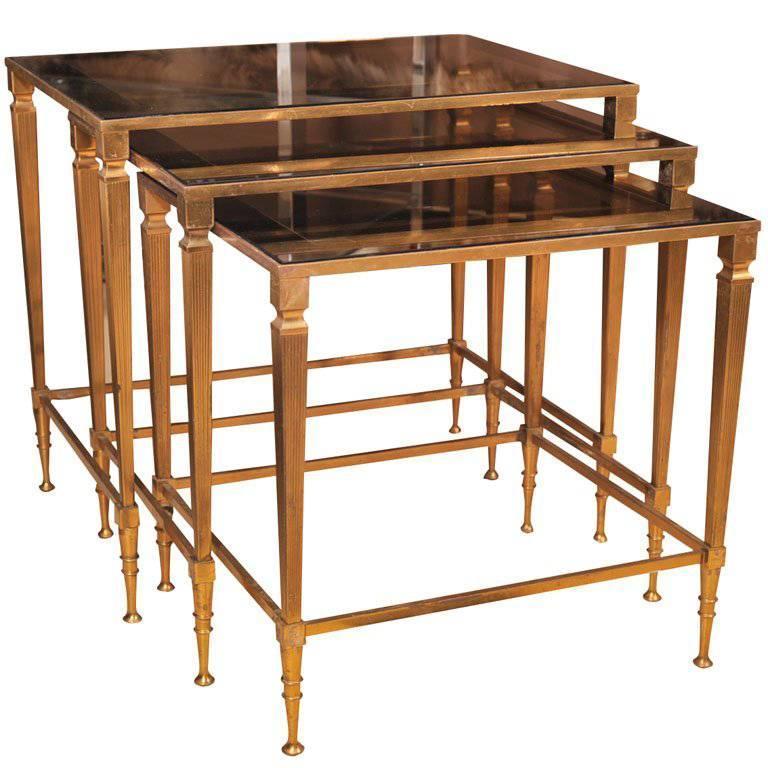 Nesting Tables, Brass, C 1950