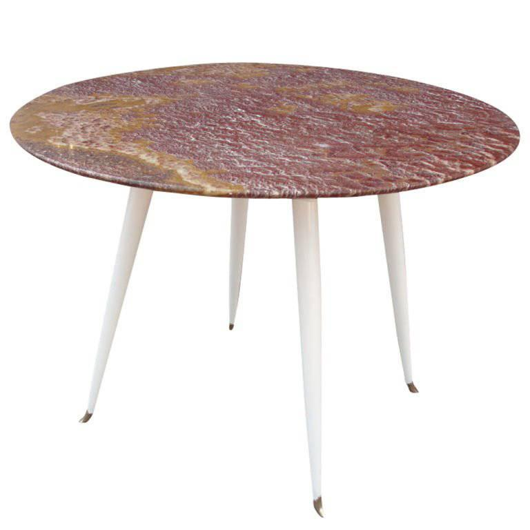 Foyer Table Sale : Red marble foyer table by osvaldo borsani for sale at stdibs