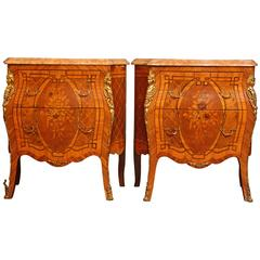 Pair of Neoclassical Bombay End Tables
