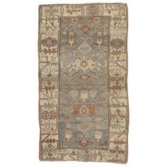 Antique Malayer Carpet, Handmade Oriental Rug, Ivory, Taupe, Gray, Terracotta