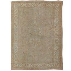 Large Antique Oushak Carpet