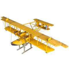 Handmade Model of a Curtiss NC-4 Seaplane