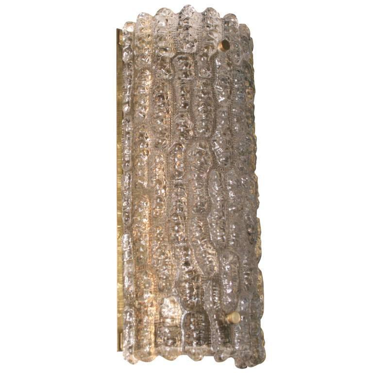 Wall Sconces Art Glass : Orrefors Art Glass Wall Sconce For Sale at 1stdibs