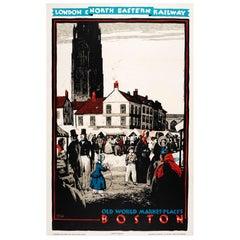 Original 1927 London & North Eastern Railway Poster by Austin Cooper, Boston UK