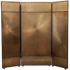 "Franck Chartrain, ""Astres"", three-panel bronze screen, France, 2008"