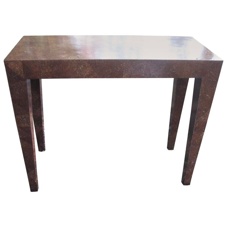 Glass Coffee Table Philippines: Vintage Coconut Veneer Console Table For Sale At 1stdibs