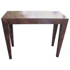 Vintage Coconut Veneer Console Table