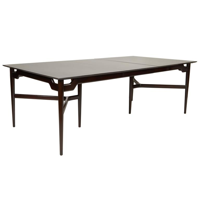 Mahogany Dining Extension Table in the Style of Tommi Parzinger, circa 1960s