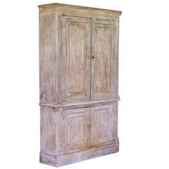 Encoignure, Corner Cupboard, Pine, Louis XIV Style
