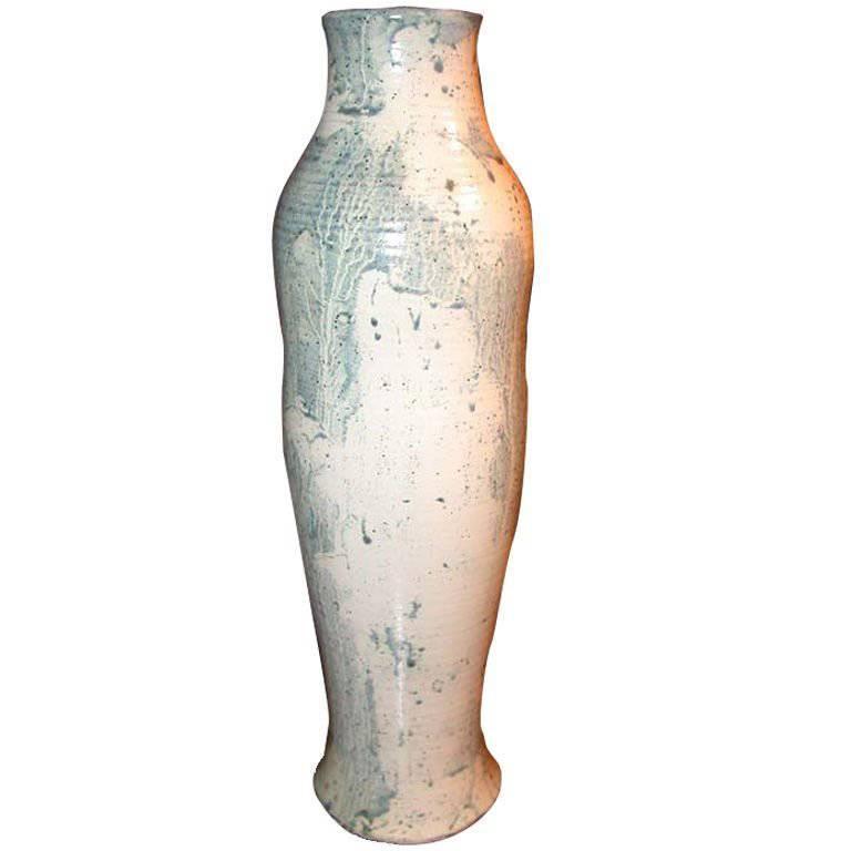 Moorcroft Studio Vase, hand thrown