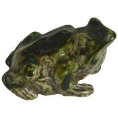 Pierre-Adrien Dalpayrat, Sculpture Representing a Frog, Signed