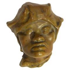 Pierre-Adrien Dalpayrat, Mask of an Eurasian, Signed