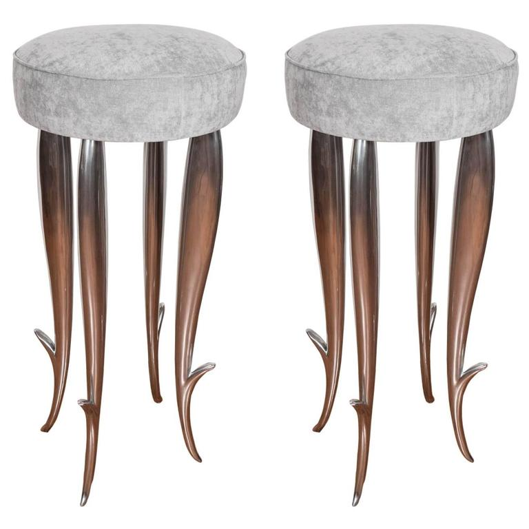 "Cast Aluminum ""Royalton"" Stool For Sale"