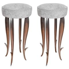 "Cast Aluminum ""Royalton"" Stool"