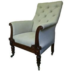 Regency Tufted Library Bergere