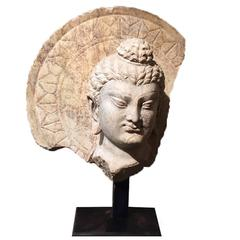 Marble Head of Buddha with Ring