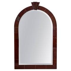 Signed Karl Springer Goatskin Mirror