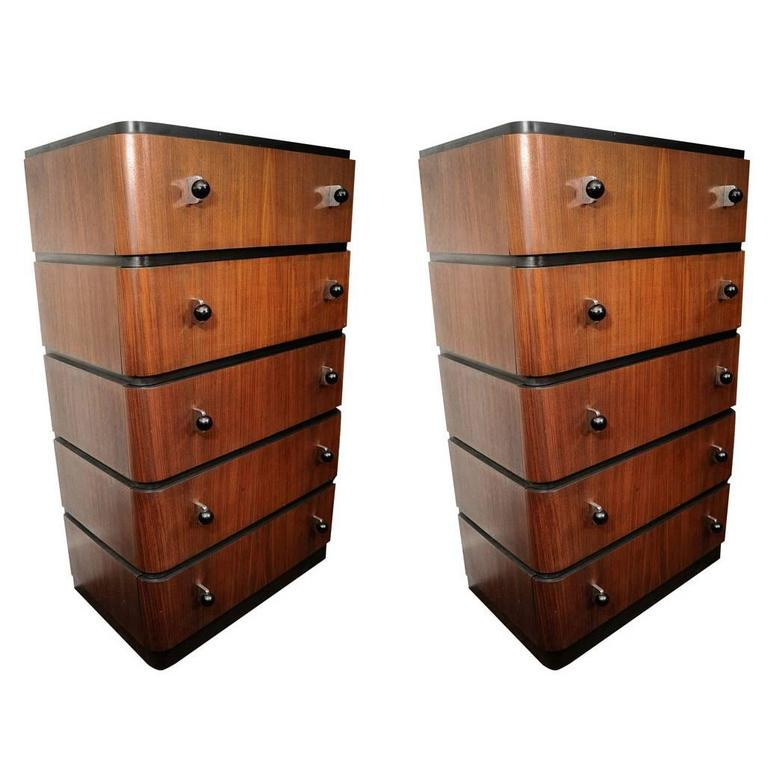Pair of Donald Deskey Chests of Drawers For Sale