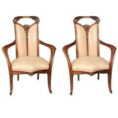 Pair of Louis Majorelle Armchairs