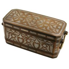 Silver and Bronze Inlaid Betel Nut Box