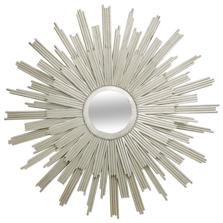 Silver gilt sunburst mirror at 1stdibs for Sunburst mirror
