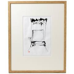Ink Drawing by Antoine de Vinck, circa 1970
