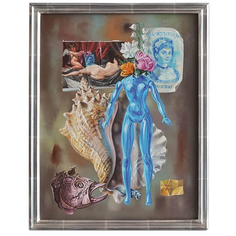 "Aaron Bohrod Still Life ""Blue Venus,"" 1960s For Sale"