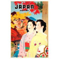 Original Vintage 1930s Travel Advertising Poster for Japan, Autumn in Nikko