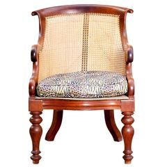 English Mahogany Antique Caned Chair