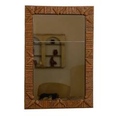 Pine Bark and Pine Cone Detailed Mirror