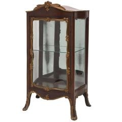Antique French Wood and Gilt Curio Cabinet