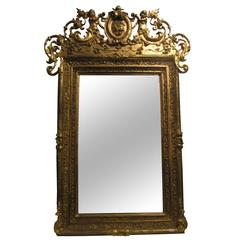 Antique Mirror Decorated with Golden