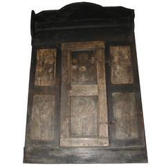 Antique Wall Closet Panel with Door