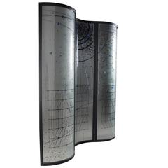 Rare Glass Room Divider or Voyeur Screen for Fiam, Design Vittorio Livi