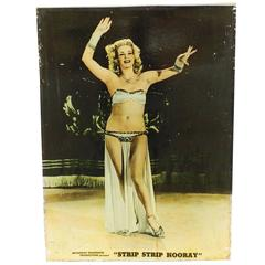 "Tempest Storm, ""Strip Strip Hooray"" Burlesque Theater Lobby Board, 1950"