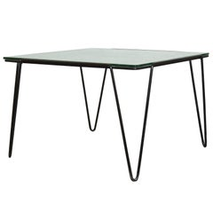 A. Bueno de Mesquita for Spurs Glass and Metal Side Table
