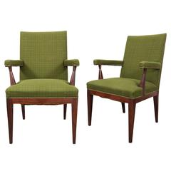 Pair of Mid-Century Upholstered Armchairs