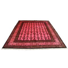 Antique Chinese Deco Hot Pink Overdyed Rug
