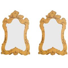 Chinoiserie Hanging Mirrors, Pair