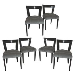 Set of Six Dining Chairs Italian 1940s Designed by G. Ulrich