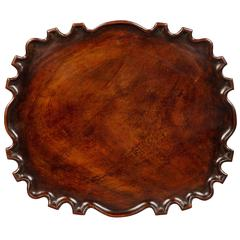 Spanish Colonial Mahogany Scalloped Tray