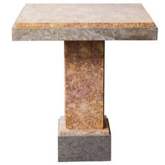 French Art Deco Marble Console Table
