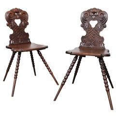 Pair of Austrian Hall Chairs