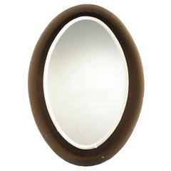 Italian Oval Mirror from the 1960s