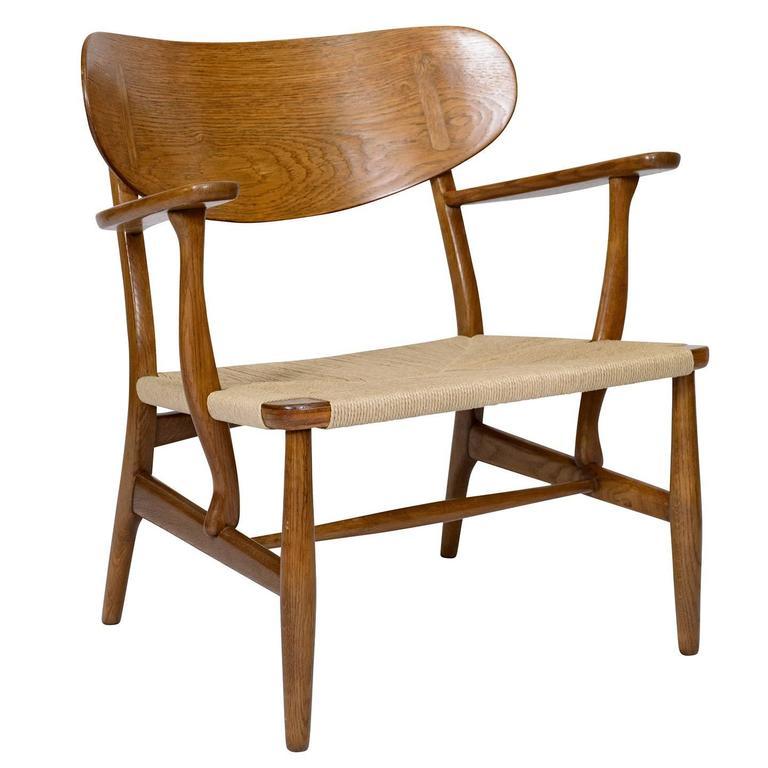 Hans Wegner CH-22 Lounge Chair For Sale