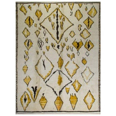 Contemporary Moroccan Wool Rug, 8x10 Ft