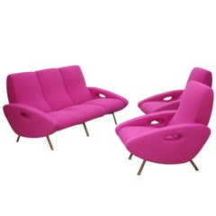 Ultra Rare Documented Sofa and Armchair Set by Maurice Mourra Freres