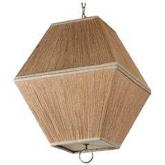String Shaded Lantern Style Chandelier or Pendant